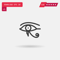 eye of ra vector icon