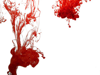 Red colour pigment in water