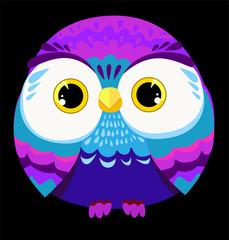Wall Mural - Owl Vector Illustration