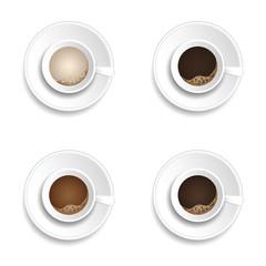 coffee cup drink set illustration