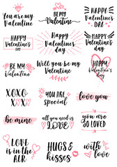 Valentine's day cards, vector set