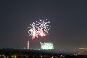 Feuerwerk Pyrotechnik Berlin Silvester Neujahr Nacht Pyronale