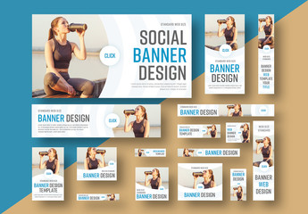 Web Banner Layout Set 4