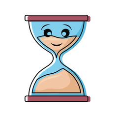 Hourglass antique clock smiling cartoon