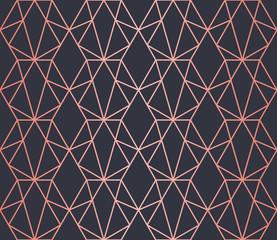 Luxury geometric pattern. Seamless Vector Lines. Trendy Copper Look.