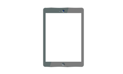 Tablet PC with blank screen.