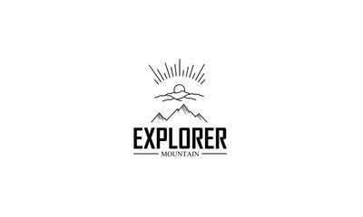 Explorer Mountain 8 Logo or Badges Template