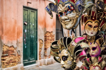 Venedig, Karnevalsmasken Wall mural