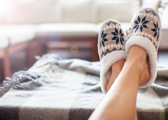 Soft comfortable home slipper