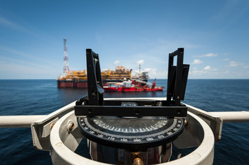 Gyroscopic compass from the offshore oil industry, Angola