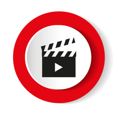 Video vector icon.