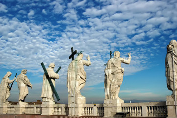 Statues of Saints of the Colonial of St. Peter in Rome