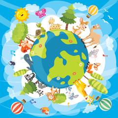 Vector Illustration Of World Animals