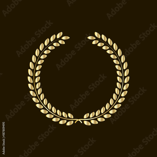 Laurel Wreath Symbol Of Victory And Power Flat Icon For Websites