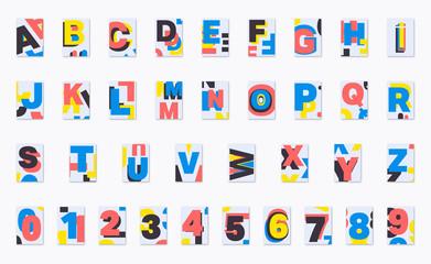 Alphabet poster font design