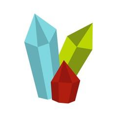 Diamonds icon, flat style