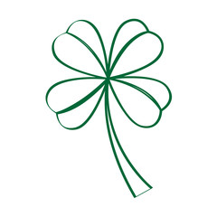 Isolated traditional clover outline