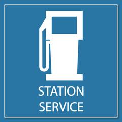 Logo station carburant.