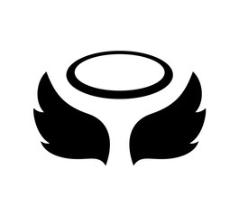 flat angel icon