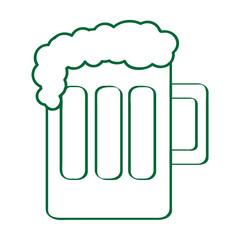 Isolated beer mug outline