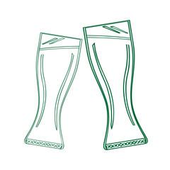 Pair of beer glasses