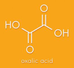 Oxalic acid molecule. Skeletal formula.