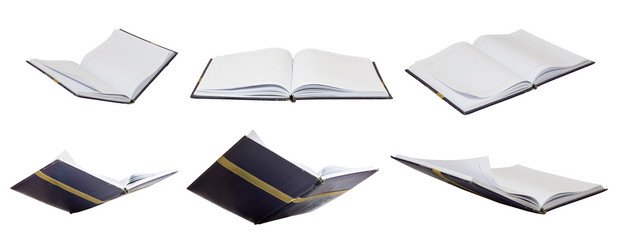 set of book opening isolated education creative concept