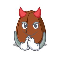 Spoed Foto op Canvas Babykamer Devil coffee bean mascot cartoon