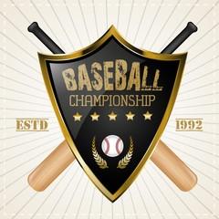 Baseball Badge Logo Design vector template