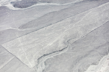 Nazca lines from the aircraft