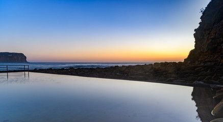 Sunrise Seascape with Sea Pool
