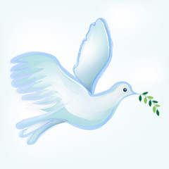 Peace dove symbol logo
