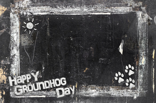 Chalkboard Groundhog Day