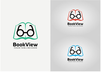 Book View Logo Template Design Vector, Emblem, Design Concept, Creative Symbol, Icon