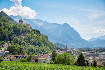 Vaduz town and castle, Lichtenstein