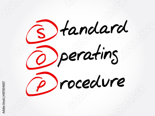 SOP   Standard Operating Procedure Acronym, Business Concept Background