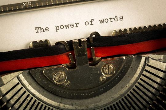 "Macchina da scrivere ""The power of words"""