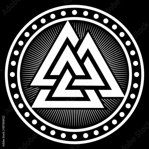 Valknut Ancient Pagan Nordic Germanic Symbol Stock Image And