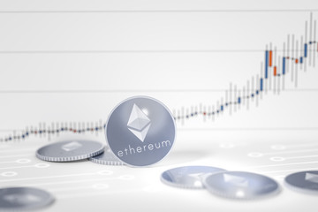ethereum coins chart background