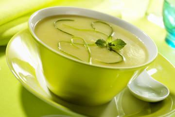 cream of zucchini in bowl