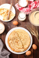 delicious crepe with ingredient