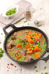 beef with pea and carrot
