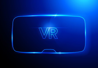 Vektor Illustration Konzept Abstrakt Stereoskopisch 3d virtuelle Realität Brille Vr Interface, digitaler Cyberspace, innovatives Gerä