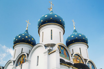 Orthodox church dome detail in Sergiyev posad Russia