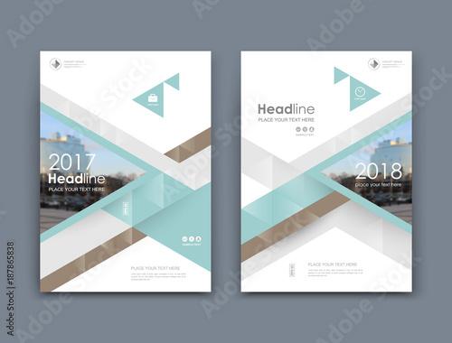 A4 Brochure Cover Design. Info Banner Board. Book,