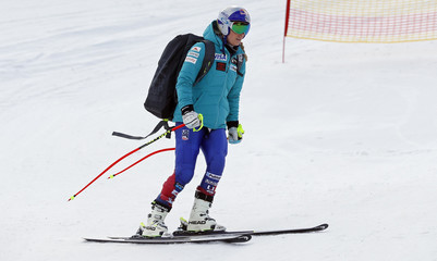 Alpine Skiing - Women's Alpine Downhill Training