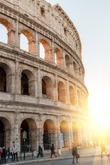 Tuinposter Rome Colosseum in Rome. Italy. Sunny.