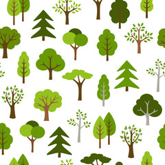 Trees Icons Pattern