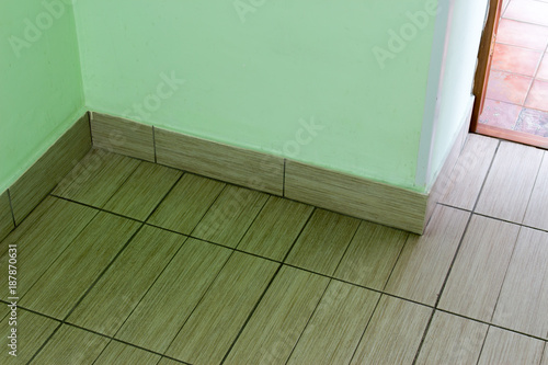 The Floor Tiles In The Hallway Of The Building Stock Photo And - Tiles-for-the-hallway