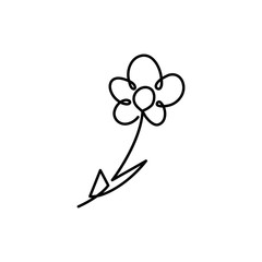 One line flower vector illustration